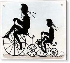 Children Riding Velocipedes Acrylic Print by Cci Archives
