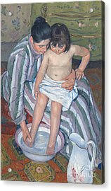Child's Bath 1893 Acrylic Print by  Mary Stevenson Cassatt