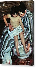 Child's Bath Acrylic Print by Mary Cassatt