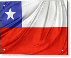 Chile Flag  Acrylic Print by Les Cunliffe