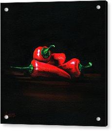 Chilis Acrylic Print by Luis  Navarro