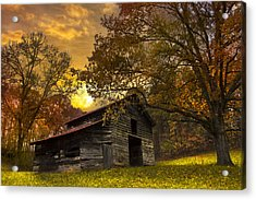 Chill Of An Early Fall Acrylic Print by Debra and Dave Vanderlaan