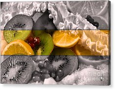 Chilled Acrylic Print by KJ Bruce - Infinity Fusion Art