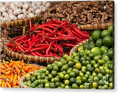 Chillies 01 Acrylic Print by Rick Piper Photography
