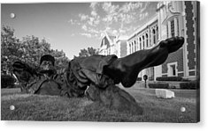 Chillin On The North Oval Acrylic Print by Nathan Hillis