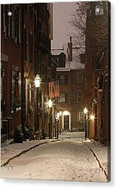 New England Acrylic Print featuring the photograph Chilly Boston by Juergen Roth