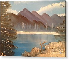 Chilly Mountain Lake Acrylic Print by Tim Blankenship