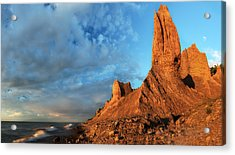 Chimney Bluffs 2 Acrylic Print by Mark Papke