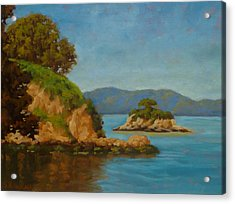 China Camp And Rat Island Acrylic Print by Steven Guy Bilodeau