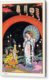 China Acrylic Print by Georges Barbier