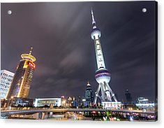 China, Shanghai, Oriental Pearl Radio Acrylic Print by Paul Souders