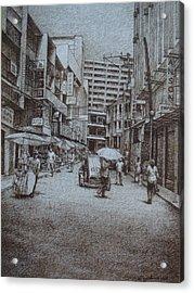 China Town Acrylic Print by Hezekiah Lopez