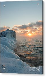 China Wall Sunrise Acrylic Print by Jamie Rabold