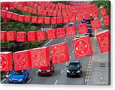 Chinese Lanterns Hanging During Chinese Acrylic Print by Panoramic Images