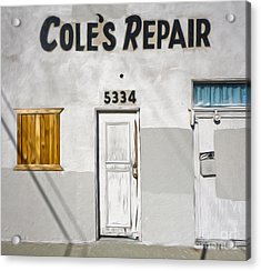 Chino - Coles Repair Acrylic Print by Gregory Dyer