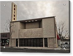 Chino Sign - Old Theater Acrylic Print by Gregory Dyer