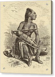 Chinook Woman And Child Acrylic Print by Mid-manhattan Picture Collection/new York Public Library