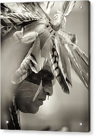 Chippewa Indian Dancer Acrylic Print by Dick Wood