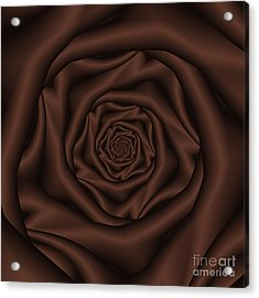 Chocolate Rose Spiral Acrylic Print by Colin  Forrest