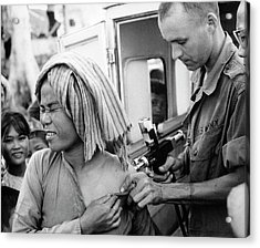 Cholera Vaccination In Vietnam Acrylic Print by Us National Archives