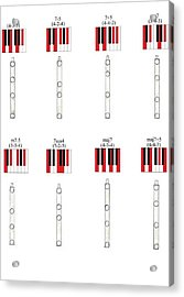 Chords 2 Acrylic Print by Giuliano Capogrossi Colognesi
