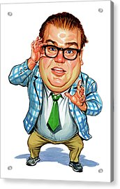 Chris Farley As Matt Foley Acrylic Print by Art
