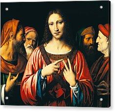 Christ Among The Doctors Acrylic Print by Bernardino Luini