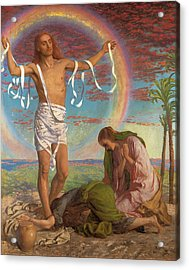 Christ And The Two Marys Acrylic Print by William Holman Hunt