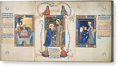 Christ Appears To Magdalene Acrylic Print by British Library