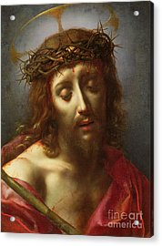 Christ As The Man Of Sorrows Acrylic Print by Carlo Dolci