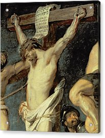 Christ Between The Two Thieves, 1620 Acrylic Print by Peter Paul Rubens