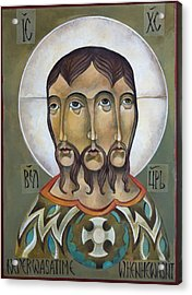 Christ Eternal Acrylic Print by Mary Jane Miller
