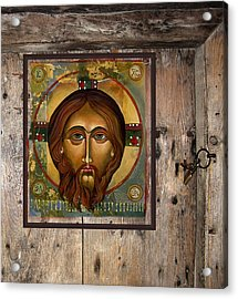 Christ Acrylic Print by Mary jane Miller
