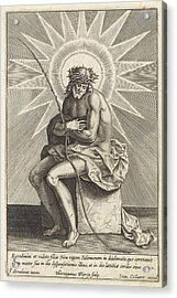 Christ On The Cold Stone, Hieronymus Wierix Acrylic Print by Hieronymus Wierix And Jan Baptiste Collaert