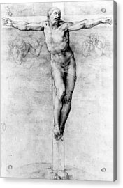 Christ On The Cross Acrylic Print by Michelangelo Buonarroti