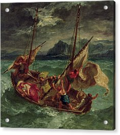 Christ On The Sea Of Galilee Acrylic Print by Delacroix