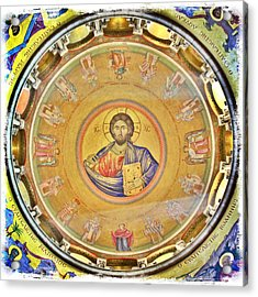 Christ Pantocrator -- Church Of The Holy Sepulchre Acrylic Print by Stephen Stookey