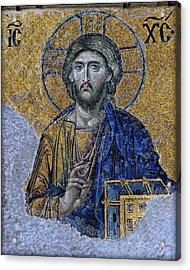 Christ Pantocrator -- Hagia Sophia Acrylic Print by Stephen Stookey