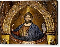 Christ Pantocrator Mosaic Acrylic Print by RicardMN Photography