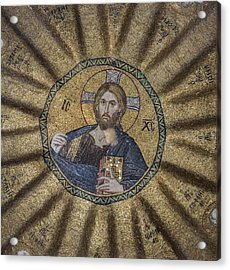 Christ Pantocrator Surrounded By The Prophets Of The Old Testament 1 Acrylic Print by Ayhan Altun