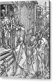 Christ Presented To The People Acrylic Print by Albrecht Durer or Duerer