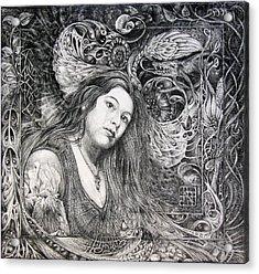 Christan Portrait Acrylic Print by Otto Rapp
