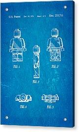 Christiansen Lego Figure 2 Patent Art 1979 Blueprint Acrylic Print by Ian Monk