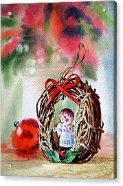 Christmas Angel Acrylic Print by Irina Sztukowski
