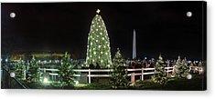 Christmas At The Ellipse - Washington Dc - 011310 Acrylic Print by DC Photographer
