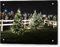 Christmas At The Ellipse - Washington Dc - 01133 Acrylic Print by DC Photographer