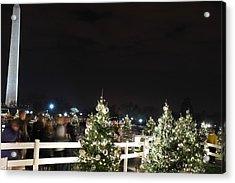 Christmas At The Ellipse - Washington Dc - 01135 Acrylic Print by DC Photographer
