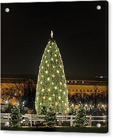 Christmas At The Ellipse - Washington Dc - 01139 Acrylic Print by DC Photographer