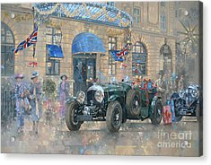 Christmas At The Ritz Acrylic Print by Peter Miller