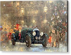 Christmas Bentley Acrylic Print by Peter Miller